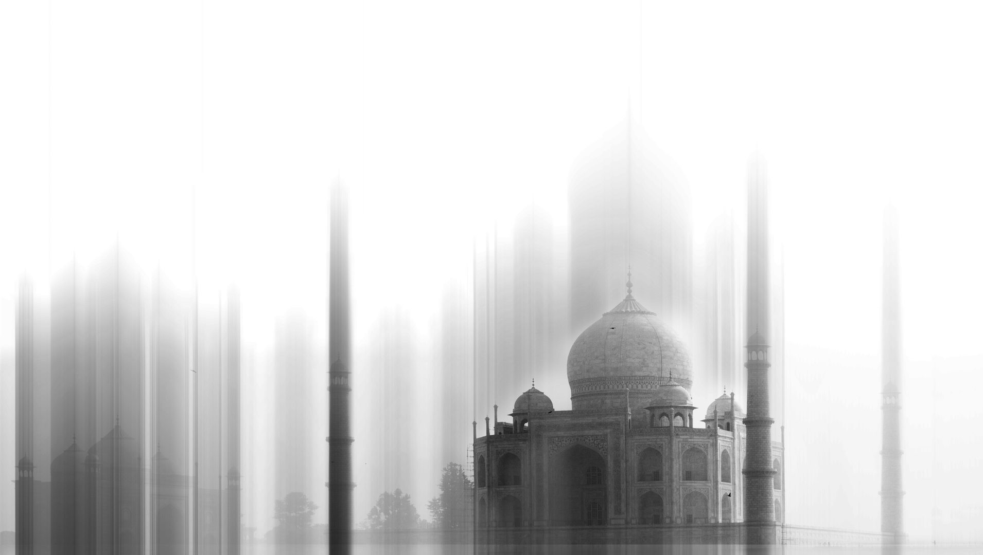 India-Taj Mahal-black&white 3